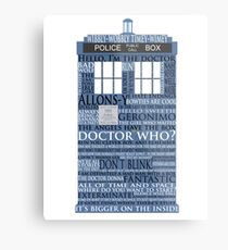Dr. Who Whovian fans Metal Print