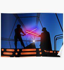 Luke vs Vader on Bespin Poster