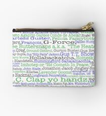 Psych tv show poster, nicknames, Burton Guster Studio Pouch