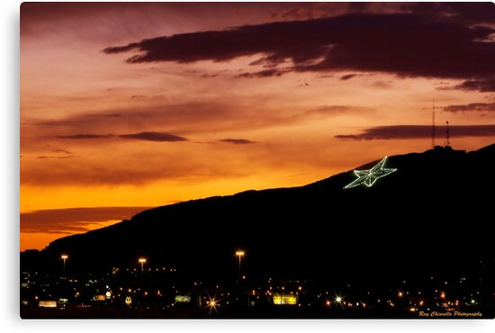 Quot El Paso S Star On The Mountain Quot Canvas Prints By Ray