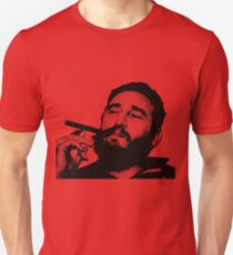 Young Fidel Castro Smoking Cigar Unisex T-Shirt