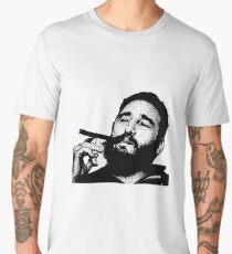 Young Fidel Castro Smoking Cigar Men's Premium T-Shirt