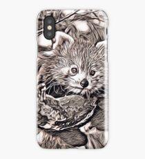 Rustic Style - red Panda iPhone Case/Skin