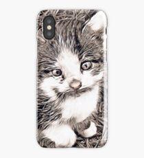 Rustic Style - Kitten iPhone Case/Skin