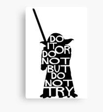 Yoda Do it Canvas Print