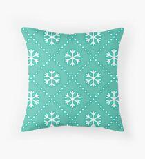 Let It Snow - Mint Throw Pillow
