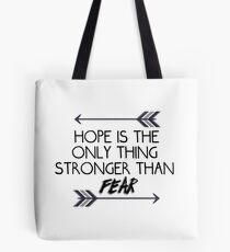 The hunger games quote design Tote Bag