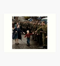 Wait for me Daddy, 1940 Art Print