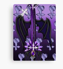 Fusion Keyblade Guitar #111 - Two Become One & Oblivion Canvas Print