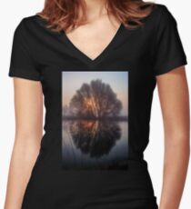 Misty and Magical Women's Fitted V-Neck T-Shirt
