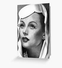 Hedy Lamarr Greeting Card