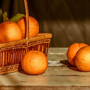 Oranges in a basket by Frogvision