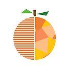 «orange art, orange print, geometric orange» de happyyakk