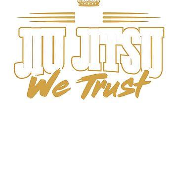 In Jiu Jitsu We Trust (white) by rockpapershirts