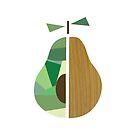 «Pear, geometric pear, pear art, fruit print» de happyyakk
