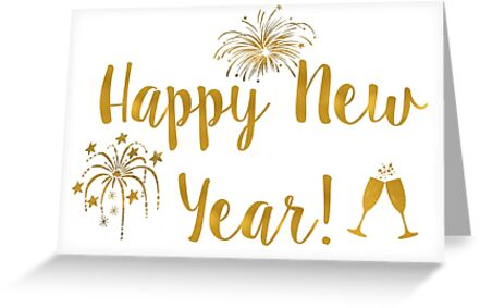 Happy New Year! - Gold Cheers\