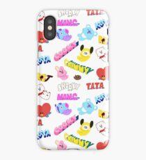 BT21 line friends mang shooky chimmy koya tata cooky rj iPhone Case/Skin