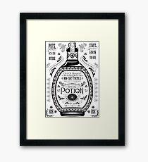 Legend of Zelda Red Potion Geek Line Artly Framed Print