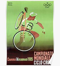 CYCLO-CROSS; Vintage Bicycle Racing Print Poster