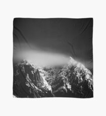 Black and white long exposure of clouds above mountain Scarf