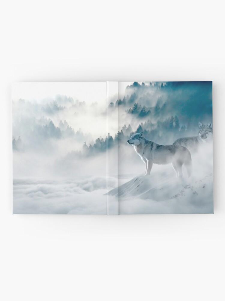 Alternative Ansicht von Wölfe im Nebel Notizbuch