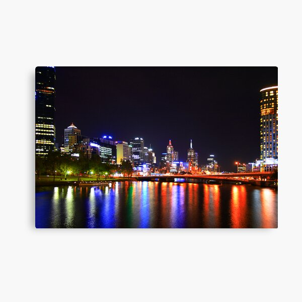 Melbourne on the Yarra Canvas Print
