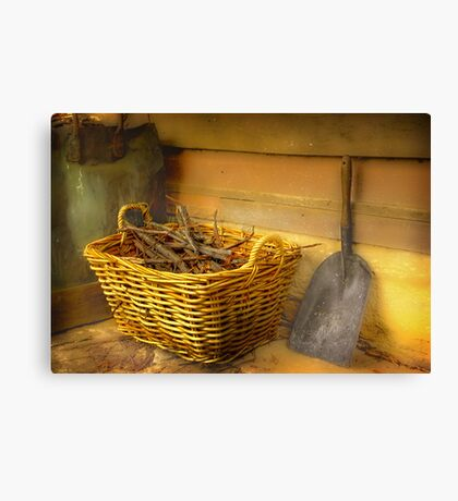 The Wood Basket . . . Canvas Print