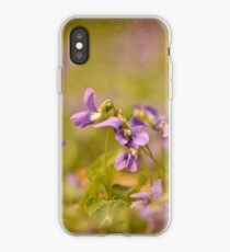 Playful Wild Violets iPhone Case