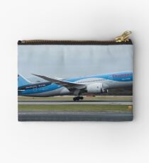 Thomson 787 Dreamliner departing Manchester Airport Studio Pouch