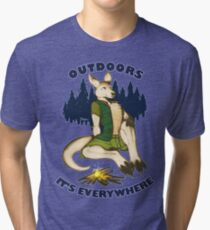 Outdoors: It's Everywhere Tri-blend T-Shirt