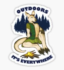 Outdoors: It's Everywhere Sticker