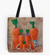 Carrot Family ( Kevin, Katie, Chardonnay, Jasper & Baby Carrot ),  Tote Bag
