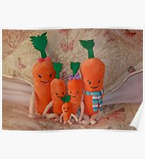 Carrot Family ( Kevin, Katie, Chardonnay, Jasper & Baby Carrot ),  Poster