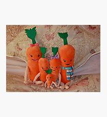 Carrot Family ( Kevin, Katie, Chardonnay, Jasper & Baby Carrot ),  Photographic Print