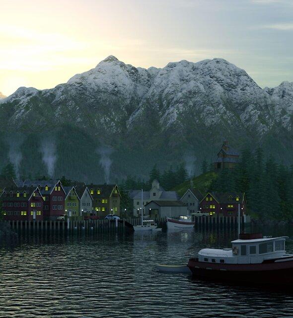 Dawn Fjord by HowieFarkes
