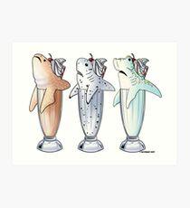 Mixed Trio of Milksharks Art Print