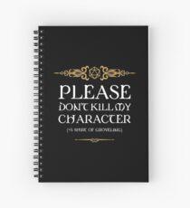 Cuaderno de espiral Camiseta de Groveling Tabletop RPG Addict