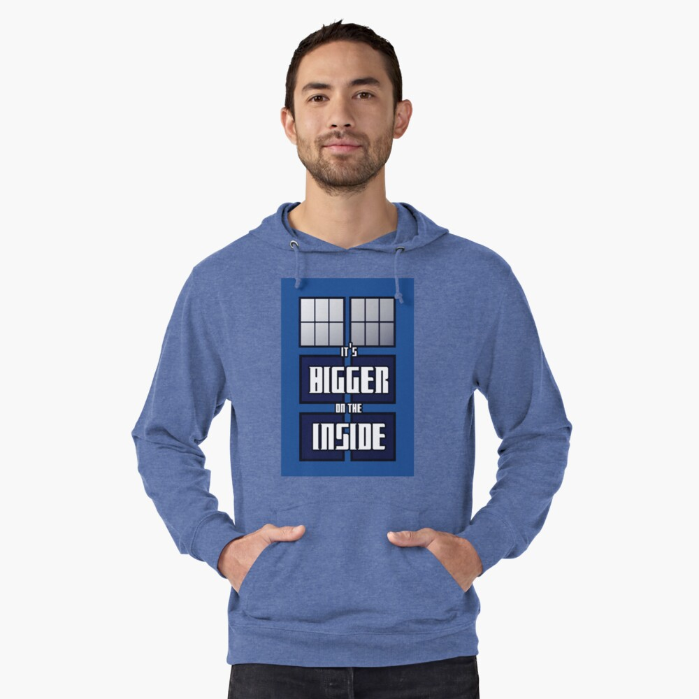 It's Bigger on the Inside Lightweight Hoodie Front
