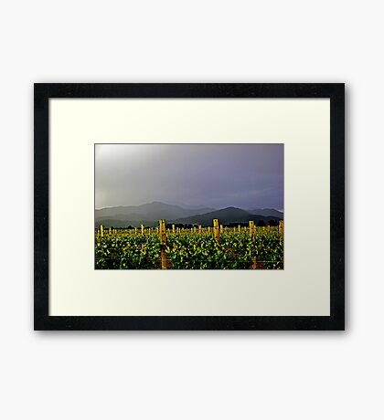Storm over the  Richmond Ranges Framed Print