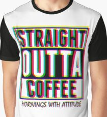 CMYK Straight Outta Coffee Graphic T-Shirt