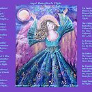 Angel Butterflies in Flight with lovely Amber by Cheryle  Bannon