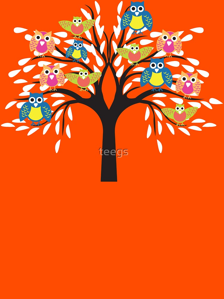 owl tree T-shirt  by teegs