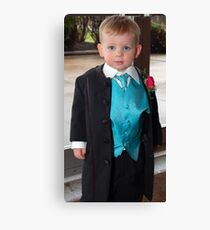 groom a couple years early Canvas Print