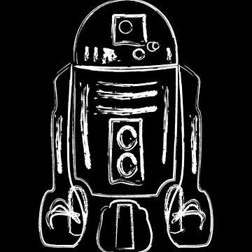 Cheerful Trashcan Robot by KillDeathRatio