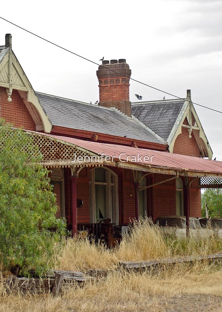 Abandoned Railway Station at Rupanyup 1 by Jennifer Craker