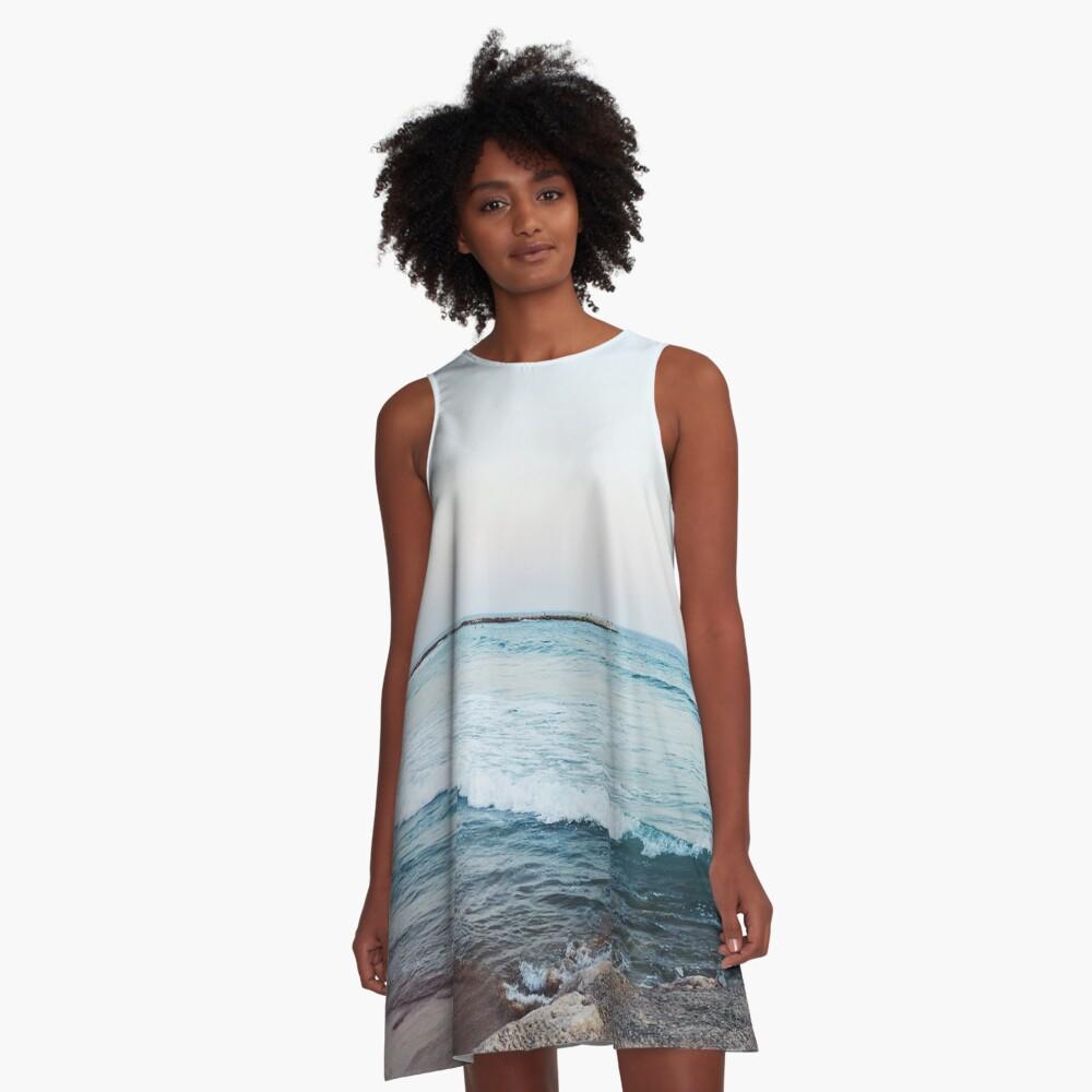 Calm ocean waves A-Line Dress