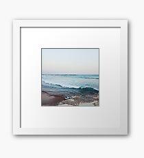 Lámina enmarcada Tranquilas olas del océano