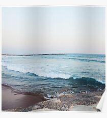 Ruhige Meereswellen Poster