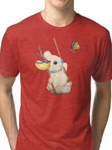 Pooky Swinging with a Butterfly Tri-blend T-Shirt
