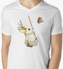 Pooky Swinging with a Butterfly Men's V-Neck T-Shirt